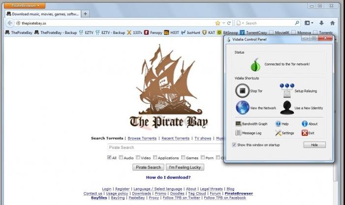 tor browser или piratebrowser hudra